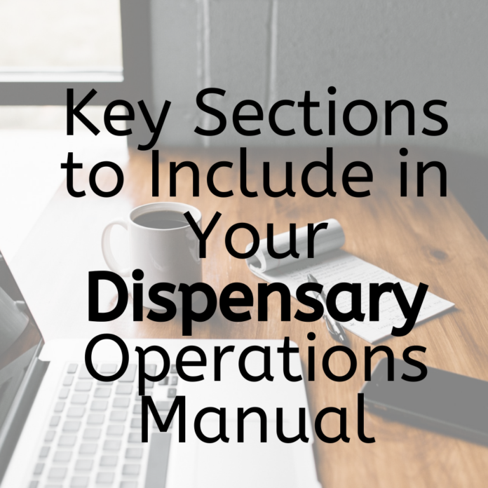 Key Sections to Include in Your Dispensary Operations Manual